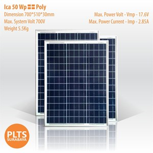 Dari ICA Solar Panel 50 Wp Poly 0