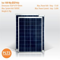 ICA Solar Panel 100 Wp Poly