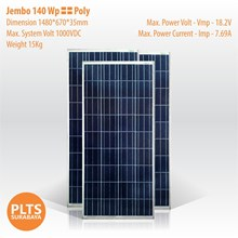 JEMBO Solar Panel 140 Wp Poly