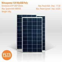 Mitsuyama Solar Panel 120 Wp Poly