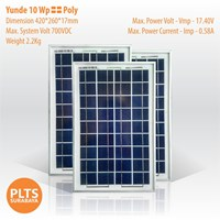Yunde Solar Panel 10 Wp Poly