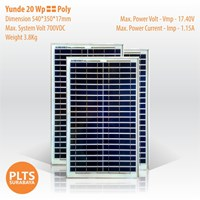 Yunde Solar Panel 20 Wp Poly 1
