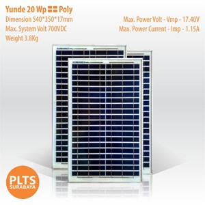 Yunde Solar Panel 20 Wp Poly