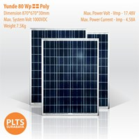 Yunde Solar Panel 80 Wp Poly