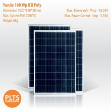 Yunde Solar Panel 100 Wp Poly