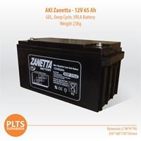 Zanetta Baterai Kering VRLA 65Ah Aki Solarcell 1