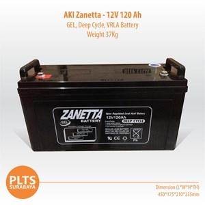 Zanetta Baterai Kering VRLA 120Ah Aki Solarcell