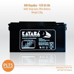 Kayaba Baterai Kering VRLA 65Ah Aki Solarcell