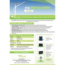 PAKET PJU TENAGA SURYA 40 Watt - LAMPU SOLAR