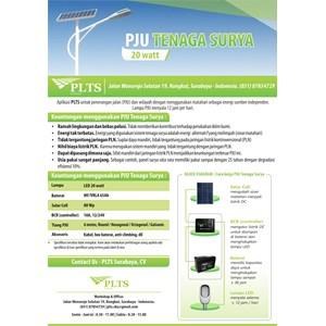 PAKET PJU TENAGA SURYA 20 WATT - LAMPU SOLAR