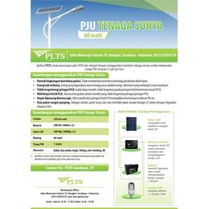 PAKET PJU TENAGA SURYA 60 Watt - LAMPU SOLAR