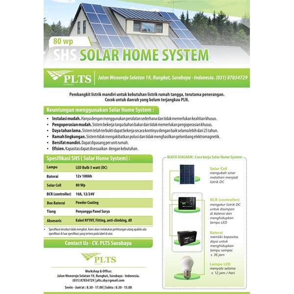 PAKET SOLAR HOME SYSTEM 80 WP - PANEL TENAGA SURYA