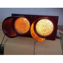 Paket Lampu Warning Light / Solar Warning Light  2 Aspek 30 cm Tenaga Surya