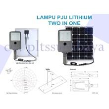 Lampu PJU Lithium Two In One Tenaga Surya