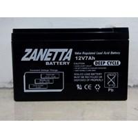 Accu / Baterai Vrla Deepcycle Gel Zanetta 12 v 7.2AH untuk UPS dan solar cell