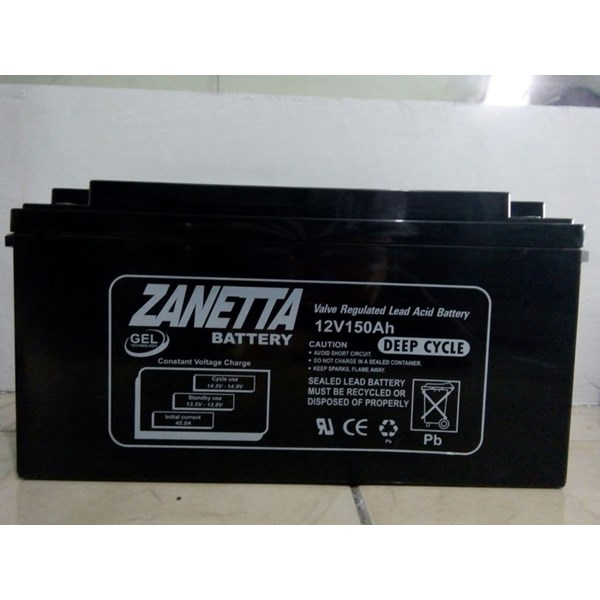 Accu / Battery Vrla Gel Zanetta 12 V 150 AH