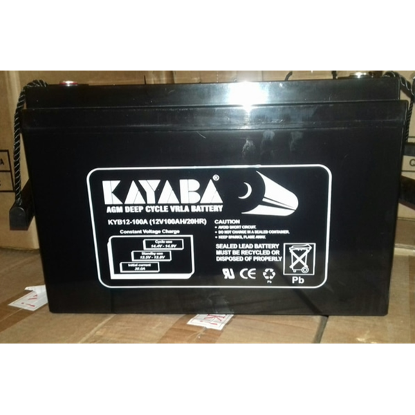 Accu /  Battery VRLA Deepcycle KAYABA 12 V 100 AH
