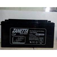 Accu / Baterai VRLA Gell Zanetta 12 V 150 AH untuk solar cell