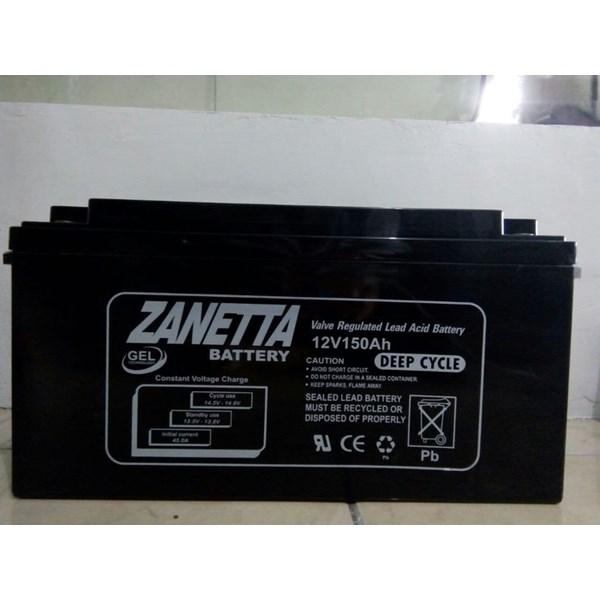 Accu / Battery VRLA Gell Zanetta 12 V 150 AH unutk solar panel