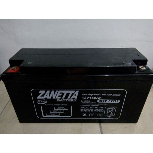 Accu VRLA Gel Zanetta 12v 150ah UPS dan Solar Cell