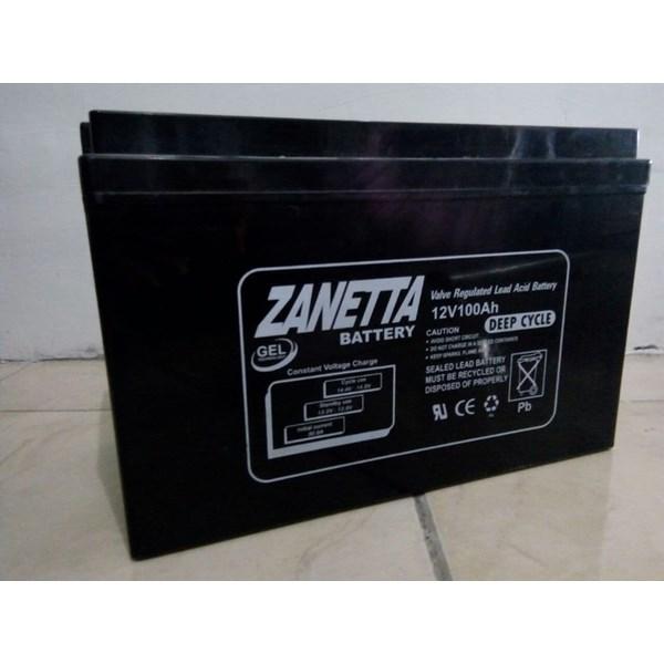 Accu VRLA Gel Zanetta 12v 100ah UPS and Solar Cell