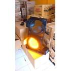 Lampu Warning Light Tenaga Surya 2 aspek 30cm DC 5