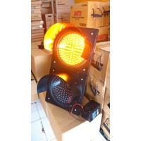 Lampu Warning Light Tenaga Surya 2 aspek 30cm DC 1