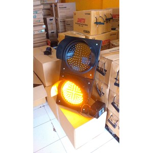 Lampu Warning Light Tenaga Surya 2 aspek 30cm DC