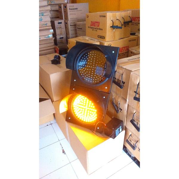 Lampu Warning Light Tenaga Surya 2 aspek 30cm DC