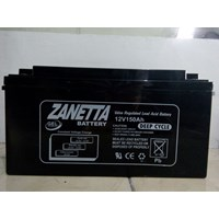 Accu VRLA Gel Zanetta 12v 150ah for Solar cell and UPS