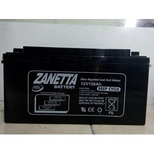 Dari Accu VRLA GEL Zanetta 12v 150AH untuk solar cell dan UPS 0