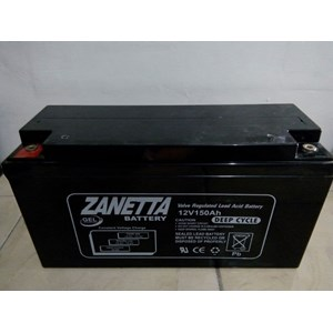 Dari Accu VRLA GEL Zanetta 12v 150AH untuk solar cell dan UPS 1