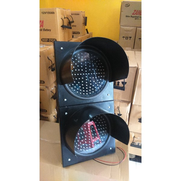 Lampu Hati-hati / Warning Light 2 Aspek 30 cm DC 12/24V