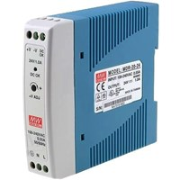 DIN Rail Power Supplies   MEAN WELL MDR-20-24 (24W 24V 1A) 1