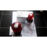 Strobe Lamp Beacon Xenon Flashtube 12-110 VDC Kuning Biru Merah