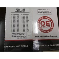AFA A3801235 LOWER GASKET SET AND SEALS - USA GENUINE
