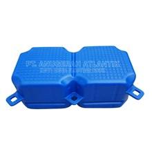 Kubus Apung Hdpe Plastik Double Blue - Modular Float System - Floating Dock - Ponton Plastik Apung - Cube Float