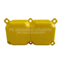 Kubus Apung Hdpe Plastik Double Yellow - Modular Float System - Floating Dock - Ponton Plastik Apung - Cube Float