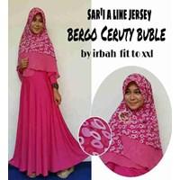 Jual Baju Muslim Sar'i A Line Jersey Bergo Ceruty Buble