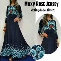 Jual Baju Muslim Maxy Rose Jersey Sleting dada fit to XL