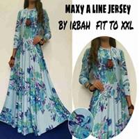 Jual Baju Muslim Maxy A Line Jerser By Irbah Fit To XXL