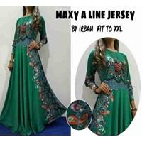 Jual Baju Muslim Maxy A Line Jersey By Irbah Fit To XXL