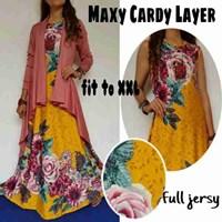 Jual Baju Muslim Maxy Cardy Layer warna kuning