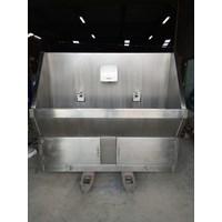 Scrub Sink 2 Kran Rumah sakit automatis Mim