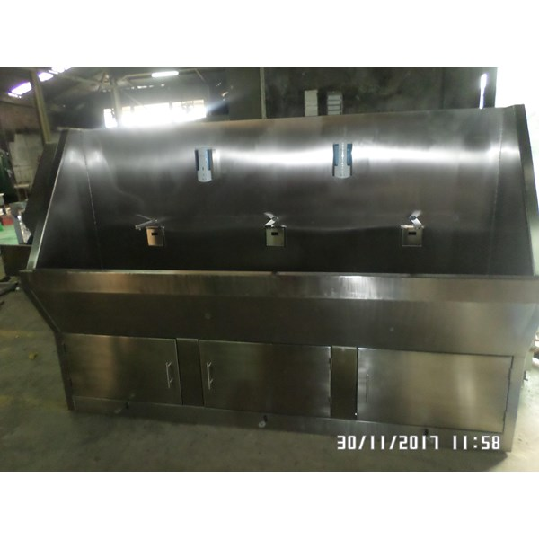 Scrub Sink 3 Keran Rumah sakit Sensor Automatic MiM