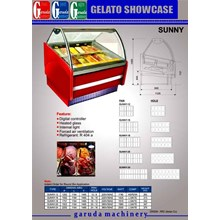 Gelato showcase Es cream