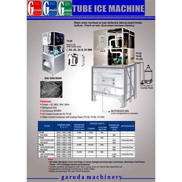 Alat alat Mesin Pembuat Es Batu ( Tube Ice )