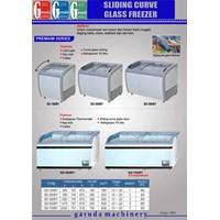 Mesin Penyimpan Makanan ( Sliding Curve Glass Freezer)