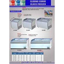 Alal alat Mesin Penyimpan Makanan ( Sliding Curve Glass Freezer)