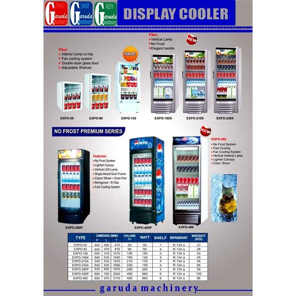 Alat alat Mesin Pendisplay Minuman ( Display Cooler )
